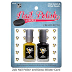 NHL Nail Polish 2 Pack With Decals - Pittsburgh Penguins