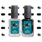 NHL Nail Polish 2 Pack With Decals - San Jose Sharks