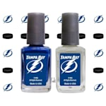 NHL Nail Polish 2 Pack With Decals - Tampa Bay Lightning