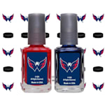 NHL Nail Polish 2 Pack With Decals - Washington Capitals
