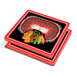 YouTheFan Chicago Blackhawks 3D Stadium View Coaster