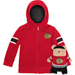 Adidas Chicago Blackhawks Hoodie And Plush Animal - Infant