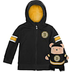 Adidas Boston Bruins Hoodie And Plush Animal - Infant