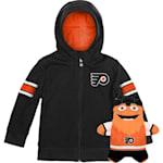 Adidas Philadelphia Flyers Hoodie And Plush Animal - Infant