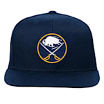 Adidas Buffalo Sabres Solid Flatbrim Snapback Hat - Youth