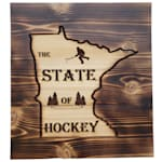 "9.5"" x 10.5"" Minnesota State of Hockey Sign"