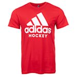 Adidas Hockey Short Sleeve Tee - Scarlet - Adult