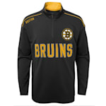 Adidas Attacking Zone 1/4 Zip Performance Top - Boston Bruins - Youth