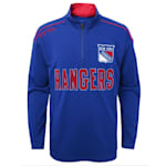 Adidas Attacking Zone 1/4 Zip Performance Top - New York Rangers - Youth