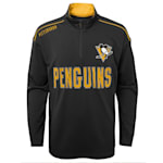 Adidas Attacking Zone 1/4 Zip Performance Top - Pittsburgh Penguins - Youth