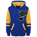 Adidas Faceoff FZ Fleece Hoodie - St. Louis Blues - Youth