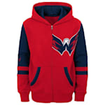 Adidas Faceoff FZ Fleece Hoodie - Washington Capitals - Youth