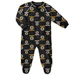 Adidas Raglan Zip Up Coverall - Boston Bruins - Infant