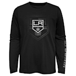 Adidas Stop The Clock Long Sleeve Tee Shirt - Los Angeles Kings - Youth