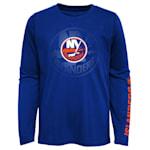 Adidas Stop The Clock Long Sleeve Tee Shirt - New York Islanders - Youth