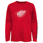 Adidas Stop The Clock Long Sleeve Tee Shirt - Detroit Red Wings - Youth