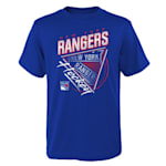 Adidas Angled Attitude Short Sleeve Tee Shirt - New York Rangers - Youth