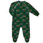 Adidas Raglan Zip Up Coverall - Minnesota Wild - Newborn
