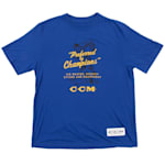 CCM Preferred Short Sleeve Tee Shirt - Cobalt - Youth