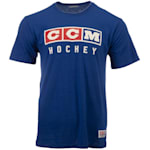CCM 3 Block Vintage Logo Short Sleeve Tee Shirt - Adult