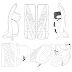 CCM EFlex 4 Custom Goalie Design - Senior