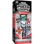 MasterPieces 100 Pack Poker Chips - Chicago Blackhawks
