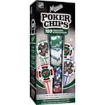 MasterPieces 100 Pack Poker Chips - Minnesota Wild