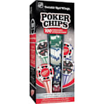 MasterPieces 100 Pack Poker Chips - Detroit Red Wings