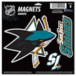 Wincraft 3 Pack Magnet - San Jose Sharks
