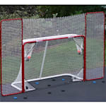 Folding Metal Goal With Corner Targets and Backstop