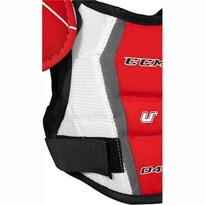 Straps Keep You Secure (CCM U + 04 Hockey Shoulder Pads - Youth)