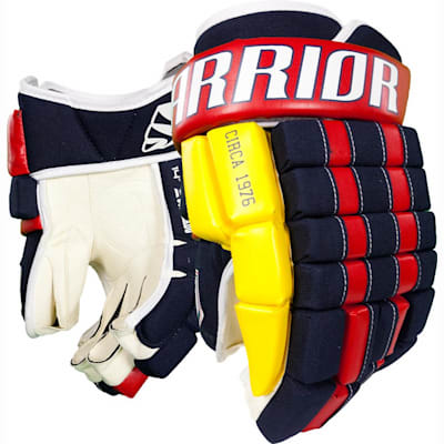 Navy/Red/Gold (Warrior Remix LE Hockey Gloves - Senior)