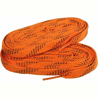 Orange/Black (Elite Hockey Pro-X7 Molded Tipped Laces)