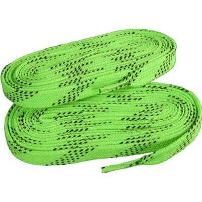 Lime Green/Black (Elite Hockey Pro-X7 Molded Tipped Laces)