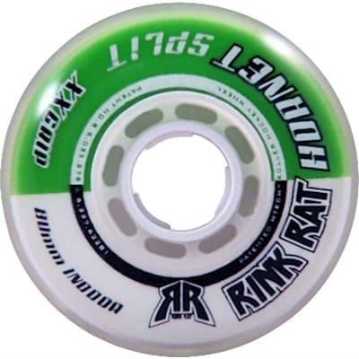 Green/White (Rink Rat Hornet Split XX Inline Wheel)