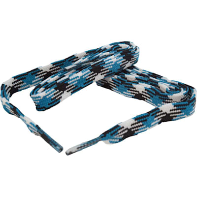Neon Blue/Black/White (Bari Boot Laces)