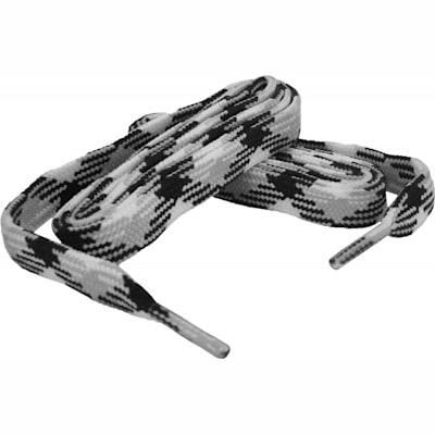 Silver/Black/White (Bari Boot Laces)