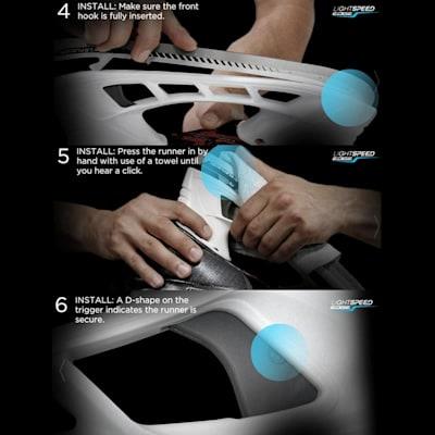 Steps 4 - 6 (Bauer TUUK Lightspeed 2 Edge Stainless Steel Runner - Pair - Senior)