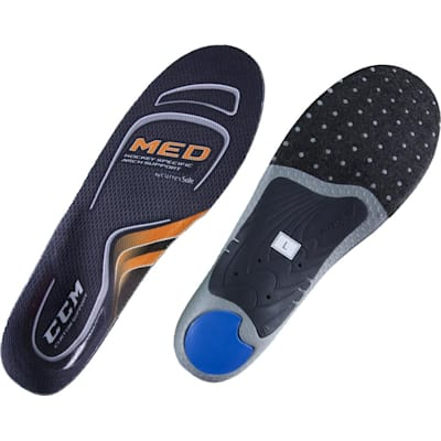 Both Sides (CCM Custom Support Hockey Skate Insoles - Medium Arch)