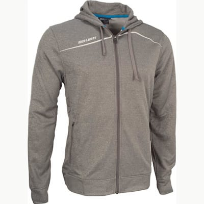 Heather Grey (Bauer Premium Team Full-Zip Hoodie - Boys)