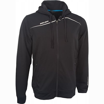 Black (Bauer Premium Team Full-Zip Hoodie - Mens)