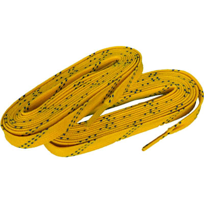 Yellow/Navy (Elite Hockey Pro S700 Waxed Laces)