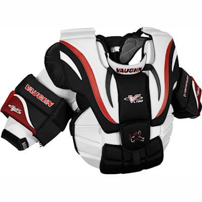 White/Black/Red (Vaughn Ventus LT60 Goalie Chest & Arms - Junior)