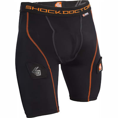 Black (Core Compression Hockey Shorts w/ Bio-Flex Cup - Boys)
