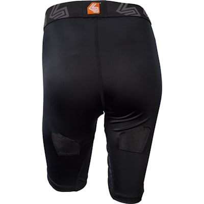 Back View (Shock Doctor 366 Core Compression Hockey Short - Women - Womens)