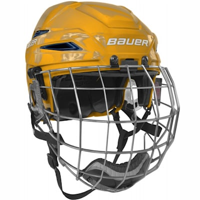 Gold/Navy (Bauer IMS 11.0 Hockey Helmet Combo)