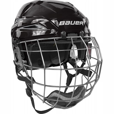 Black/Silver (Bauer IMS 11.0 Hockey Helmet Combo)
