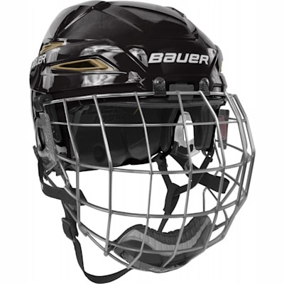 Black/Vegas Gold (Bauer IMS 11.0 Hockey Helmet Combo)
