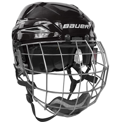 Black/White (Bauer IMS 11.0 Hockey Helmet Combo)