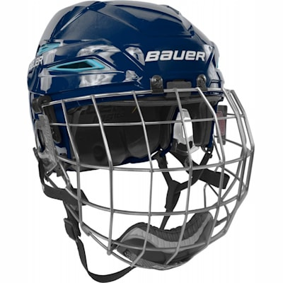 Navy/Carolina Blue (Bauer IMS 11.0 Hockey Helmet Combo)